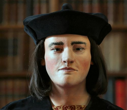 The facial reconstruction of King Richard III, paid for by the Richard III Society. Image courtesy of the Society.